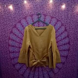 Kimono mustard blouse
