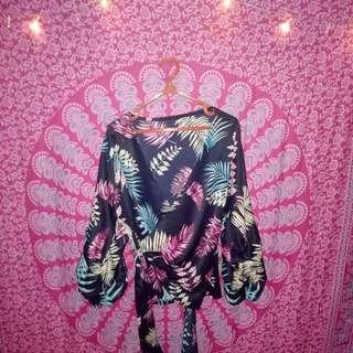 Kimono palm blouse