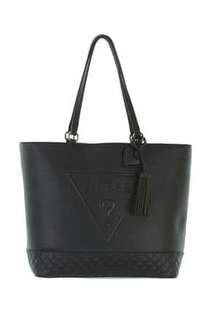 GUESS TOTE BAG (ORIGINAL)  BLACK & NUDE