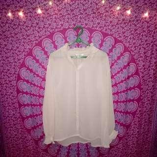 Pink ciffon shirt
