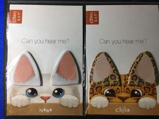 Kitty ears sticky notes