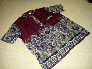 Kemeja batik pria katun rayon