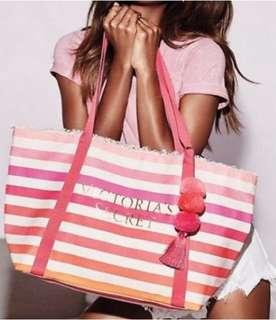 Victoria Secret Summer Pom Pom Canvas bag