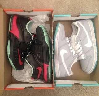 KD 7 basketball shoes and Nike SB