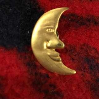 Quarter Moon Lapel Pin