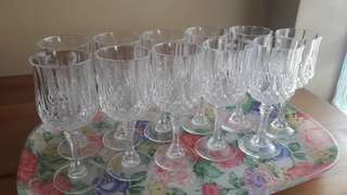 Crystal glass set of 11