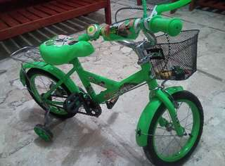 Pre owned 1 month Ben10 toddler bike