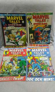 Marvel Tales Featuring Spiderman early bronze age marvel Comics