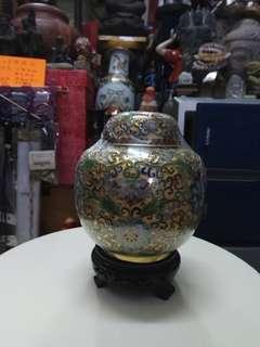 古舊景泰藍罐