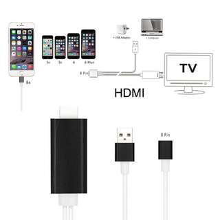 .Apple Devices ( Lightning Connector) To HDTV Cable (HDMI)