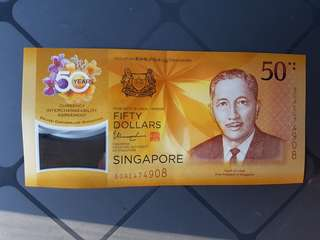 Singapore 50th Anniversary note