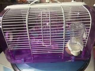 🚚 倉鼠鼠籠(附配件跟飼料 沙浴)