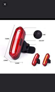 Brand new 3 in 1 Triple color USB rechargeable tail light