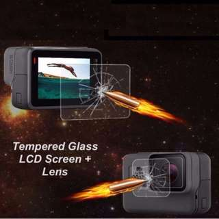 .GoPro Hero 6 Hero 5 Tempered Glass Lens and Screen Protector