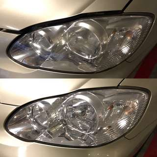 Toyota Altis Headlight Restoration