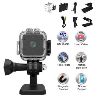 .SQ12 (waterproof case) FHD 1080P Mini Camera Portable Mirco Recorder DVR Bike Online Digital Loop Video Camcorder