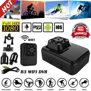 .R3 Full HD WiFi Spy Camera Night Vision Outdoor/Indoor Wireless Sports DVR Motion Detection Security Surveillance Camcorder Video Recorder