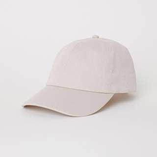 正品 H&M 棉質帆布鴨舌帽/棒球帽/老帽[裸色]