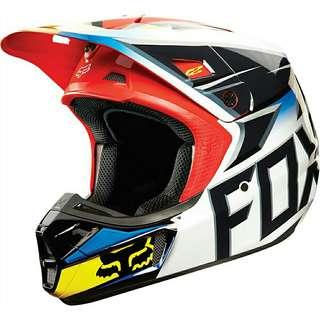 Original fox v2 Race not airoh aviator v1 v3 v4 tld icon helm arai nolan agv shoei ktm 150 crf 230 kawasaki kx kxf 250 yamaha yz
