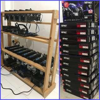 Mining Rigs -> Sapphire Nitro+ RX580 8GB (Total 450 Mh/s) !
