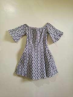 Off shoulder bell dress