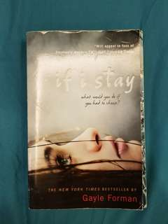 BOOK SALE IF I STAY BY GAYLE FORMAN