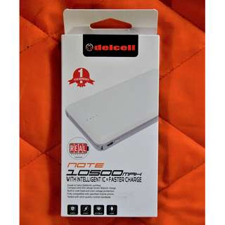 Powerbank Delcell NOTE 10500MAH Fast Charge White Colour