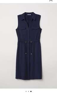 H&M Sleeveless blue dress