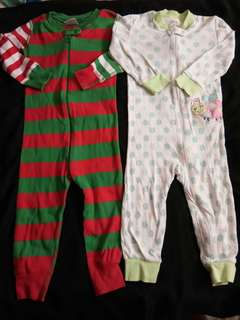 2pcs Preloved Frogsuits for 1 to 2yrs old