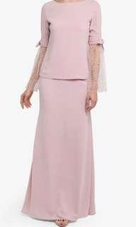 ALIA B baju kurung pink