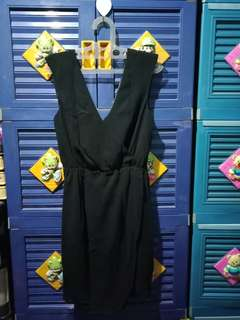 Wrap Black Mini Dress