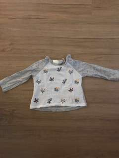 Zara Baby Embroidery Shirt