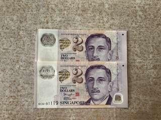 $2 Singapore