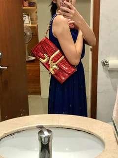 日本品牌 Mcbee 紅色宴會肩背手拿包