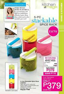 5-PC STACKABLE SPICE RACK
