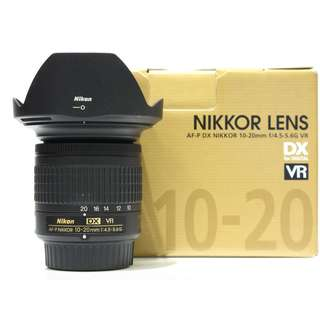 Nikon AF-P 10-20mm f4.5-5.6G VR DX Lens (Still Under Warranty 04/Jan/2019)