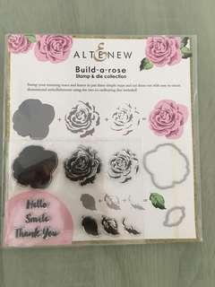 Altenew build-a-rose stamp & die set
