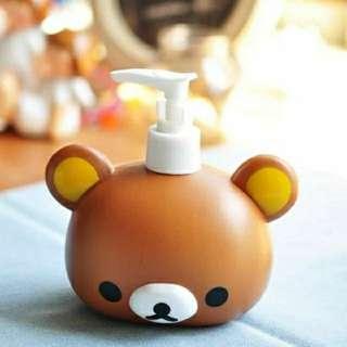 🚚 全新現貨卡通時尚可愛 輕鬆熊 大頭造型 洗手液 乳液瓶 壓嘴瓶 沐浴露瓶