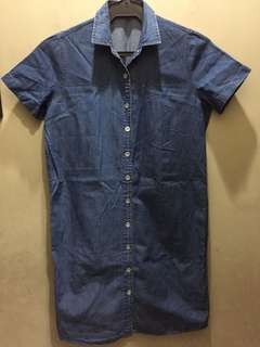 Denim dress short sleeves