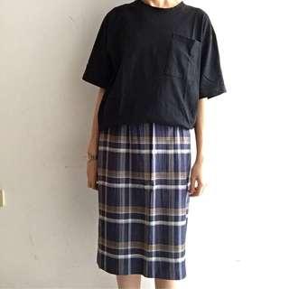 🚚 古著日本製格紋裙(夏天面料)