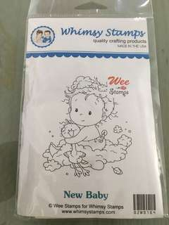 Whimsy New Baby stamp