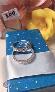 92.5 Italy Silver Couple Ring