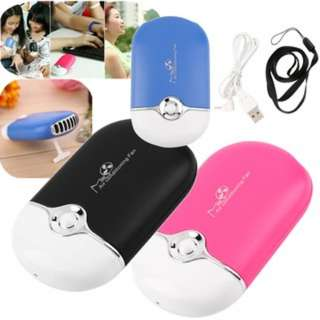 (324)Rechargeable Portable Mini Handheld Air Conditioning Cooling Fan USB Cooler