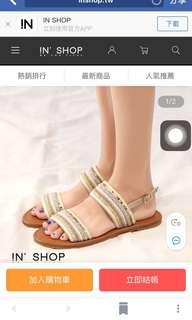 🚚 女神款涼鞋 串珠涼鞋 顯瘦顯白39size