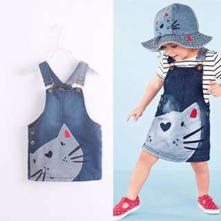 Baby Girl Denim Overall Dress