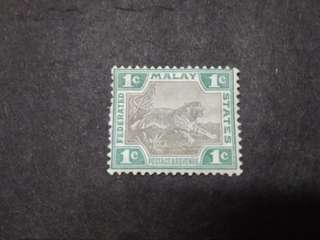 Federated Malay States 1901 Tiger 1c - 1v MH Malaya Stamps