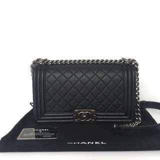 Authentic Chanel Boy Medium