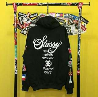 Stussy flag world tour hoodie