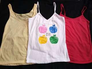 3pcs Bnew Hello Kitty Sleeveless Sets(Preteens)