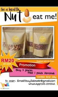 Homemade Nuts Snacks - Almond, Cashew, Walnut
